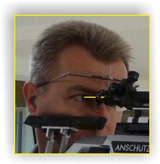 Richtig eingestellte Schiessbrille