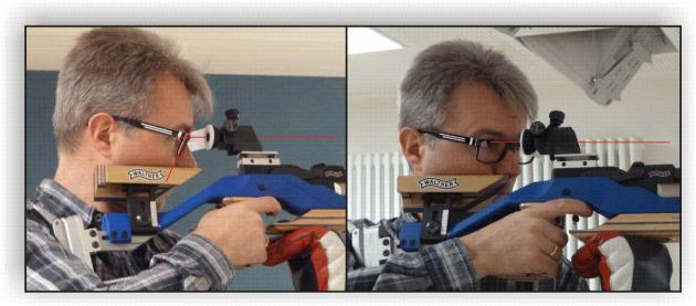 Falscher Brilleneinsatz bei Luftgewehrschiessen
