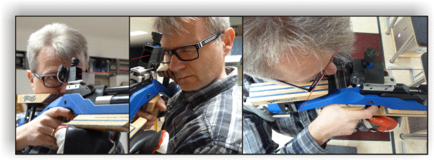 Falscher Brilleneinsatz beim Luftgewehrschiessen